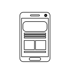 Cellphone screen  over white vector
