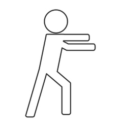 Icon of person fight boxing vector