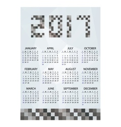 2017 simple business wall calendar grayscale vector