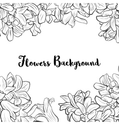 Background with hyacinth flowers vector