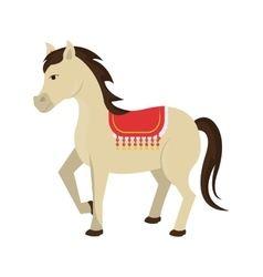 Circus horse animal cartoon design vector image