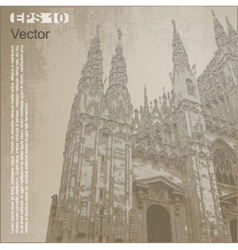 Facade of Milan Cathedral vector image