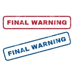Final warning rubber stamps vector