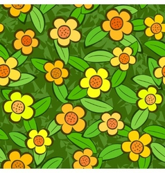 flowers seamless vector repeat pattern vector image vector image