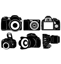 foto cameras vector image vector image