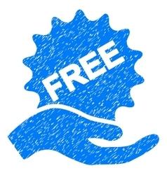Free present grainy texture icon vector