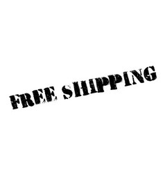 free shipping rubber stamp vector image vector image