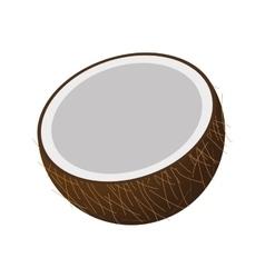 Half coconut icon vector