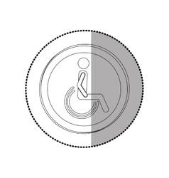 Handicap road sign vector