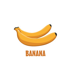 Logo banana farm design vector