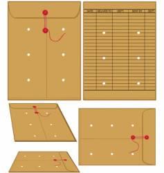 manila envelopes vector image vector image