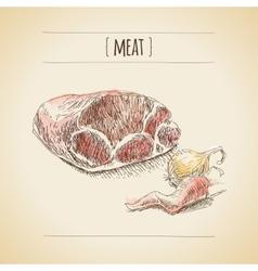 Meat sketch vector