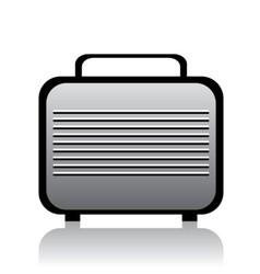 metal briefcase vector image vector image