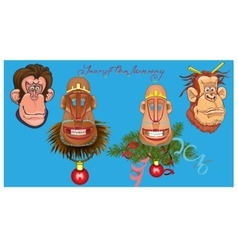 monkeys vector image vector image