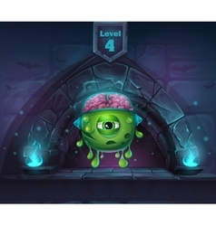 Monster with brains in Arch Magic in next 4th vector image vector image