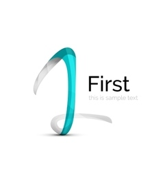 Number one first logo vector image