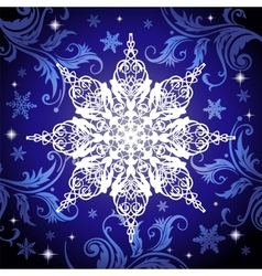 Ornate snowflake vector