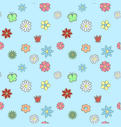 Seamless pattern flower vector