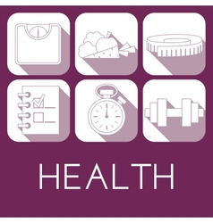 set of health icon in flat style vector image vector image