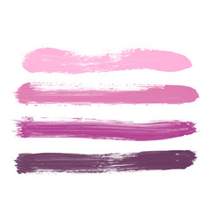 Set of pink lilac rose violet watercolor stripes vector