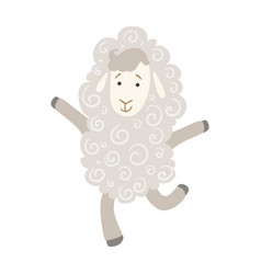 sheep cute toy animal with detailed elements part vector image vector image