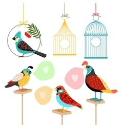 Song birds with speech bubbles vector