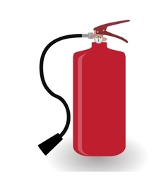Red Fire Extinguisher Isolated on White Background vector image