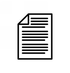 Business Document Icon vector image