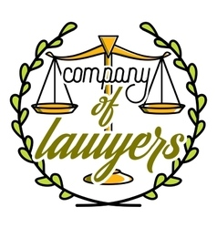 Color vintage lawyer emblem vector