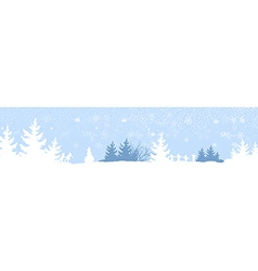 Cute kids playing winter games banner vector