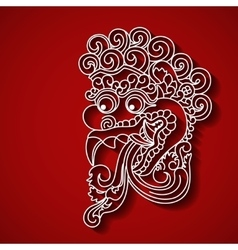Mythological god s face balinese tradition vector