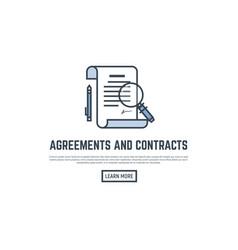 Agreement line banner vector