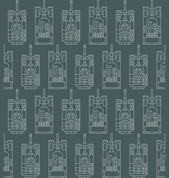 Seamless military pattern with tanks vector
