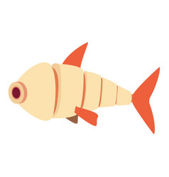 robot fish icon cartoon style vector image