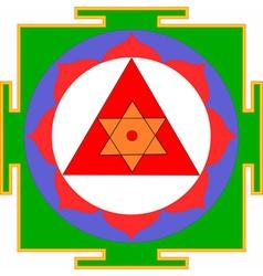 ganesha yantra vector image