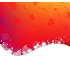Bright background from red hearts vector