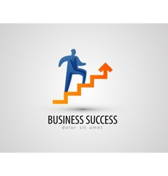Business logo design template success or progress vector