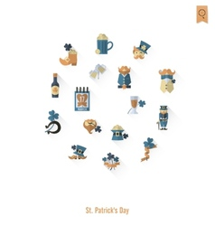 Saint patricks day isolated icon set vector