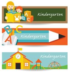 Kindergarten preschool banner vector