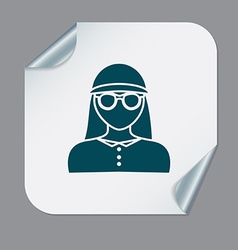 A female avatar avatar of a woman round icon image vector
