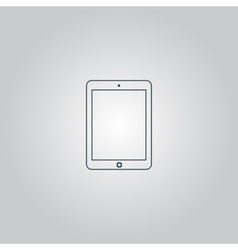 Tablet icon sign and button vector