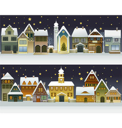Winter town vector