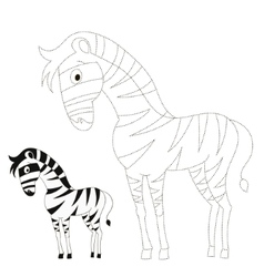Connect the dots game zebra vector
