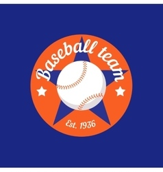 Vintage color baseball championship logo or badge vector