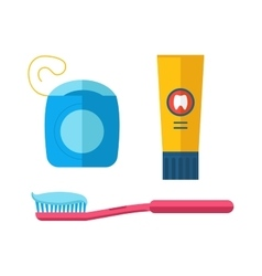Dental care symbols in the shape of heart vector