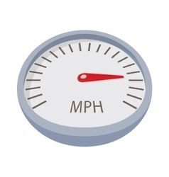 Speedometer or gauge icon cartoon style vector