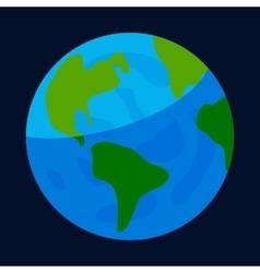 Earth globe icon cartoon style vector image