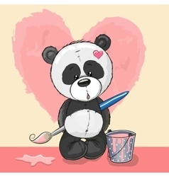 Artist panda vector