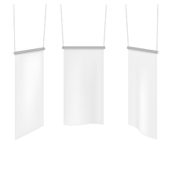 White textile banners template set vector