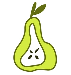 Pear green element vector